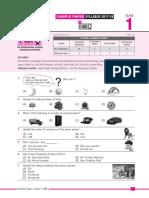 SOF IGKO Model Question Paper Class 1