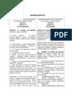 Comparativo Reforma de Estatutos - Asamblea Extraordinaria Coomec