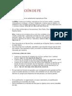 Declaración de Fe Propuesta