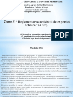 Reglementarea activitatii de expertiza