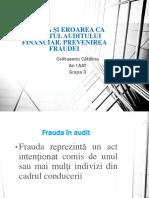212237653 Frauda i Eroarea CA Obiectul Auditului Financiar Sesiunea de Comunicari