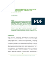 PERSPECTIVAS EPISTEMOLÓGICAS DE LA INVESTIGACIÓN SOBRE DESIGUALDAD EN EL CAMPO EDUCATIVO EN EL MÉXICO ACTUAL