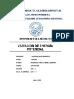 INFORME DE FISICA N°5 (VARIACION DE ENERGIA)