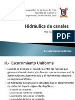 II.- Escurrimiento Uniforme