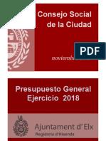 Presupuestos Municipales 2018