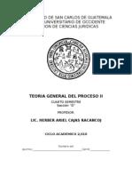 Programa Teoria General Del Proceso II. 4o. Semestre Seccion D