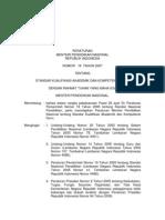 Permen_ No_16_ Tahun_ 2007_standar Kualifikasi Akademik Dan Kompetensi Guru