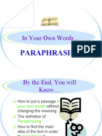 paraphrasing powerpoint ppt