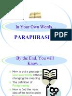 paraphrasing powerpoint ppt