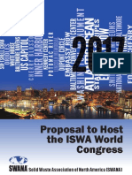 SWANAs Proposal to Host the ISWA World Congress 2017