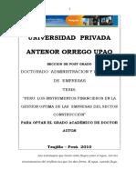 Tesis Administ[1]. y Direccion de Empresas Upao Optar Grado Doctor