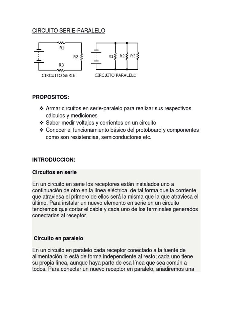 Circuito Seri E Paralelo : Circuito serie paralelo electrónica bachillerato