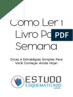 Como Ler 1 Livro Por Semana - EstudoEsquematizado.com.Br