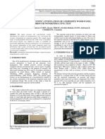 Evaluation of Acoustic Attenuation of Composite Wood Panel