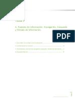 A. Fuentes de Información, Navegación, búsqueda y filtrado de información