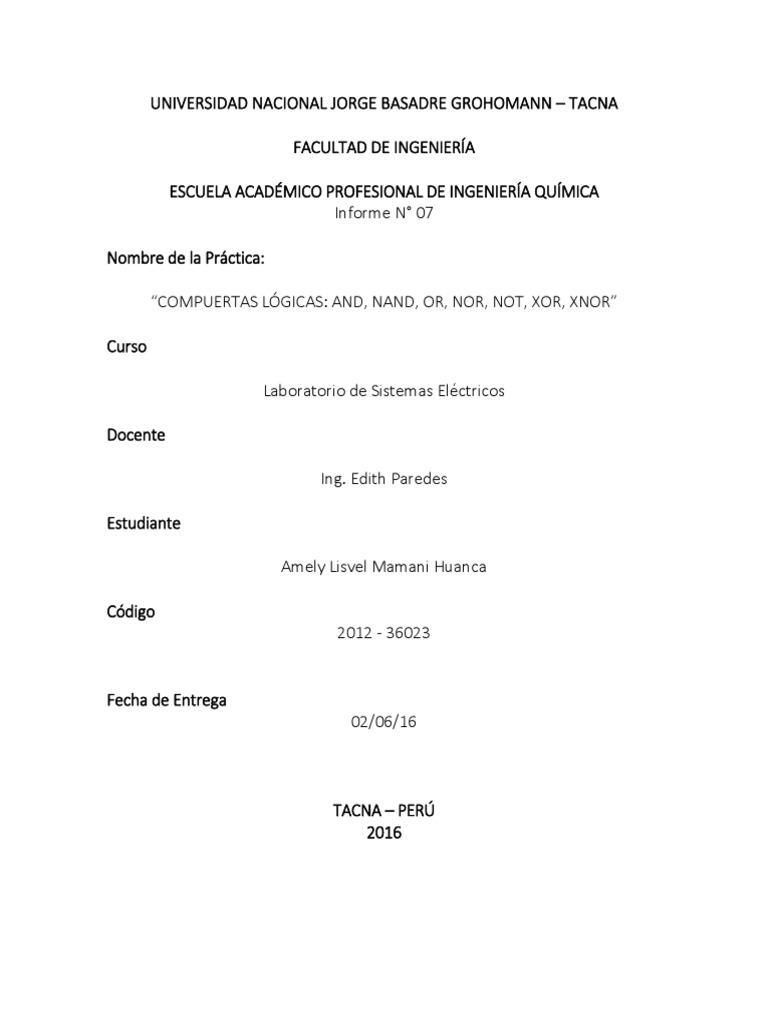 Circuito Xnor : Informe 7