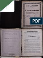 Rivera 1838 Declaracion