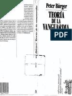 Burger Peter Teoria de La Vanguardia