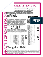 Font analysis