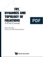 Geometry Dynamics and Topology of FoliationsA First Course