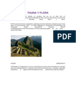 Fauna y Flora. Del Peru