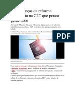 Mudanças Da Reforma Trabalhista Na CLT 27-04-17