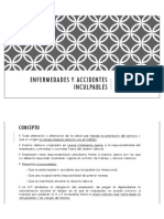 Enfermedades y Accidentes Inculpables(i)
