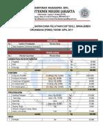 Anggaran Dana Psmo 2017
