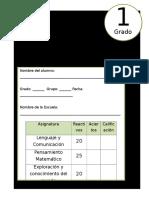 1er Grado - Examen de Diagnóstico (2017-2018)