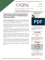 """16-11-17 Parlamentarias y parlamentarios del hemisferio discuten sobre """"posverdad"""" durante la 14ª Asamblea Plenaria de ParlAmericas en Medellín » Eje21"""