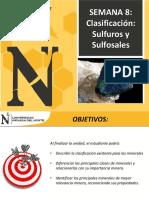 Semana8 - Clasificacion de Minerales Sulfuros - 2017-2