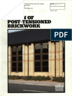 Post Tensioned Brickwork