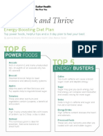 Energy Boosting Diet