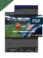 Prediksi Bola Ateltico Madrid vs Roma World Cup Russia 2018