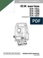 Manual Sokkia CX-105 333