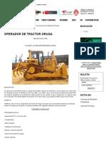 Operador de Tractor Oruga - Instituto ITEP