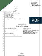 Letters from Scott Dozier to District Judge Jennifer Togliatti