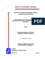 Comportamiento de La Absorción en Columnas Empacadas en Relación a La Temperatura y La Carga Específica