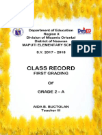 Class Record Cover Page 2017 - 2018