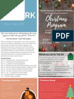 the ark newsletter 11-12 2017