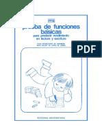 Cuadernillo Prueba de Funciones Básicas