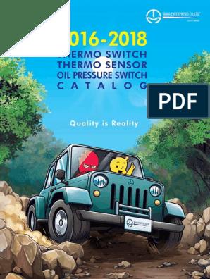 Tama Catalogue Thermo Switch, Thermo Sensor, Oil Pressure