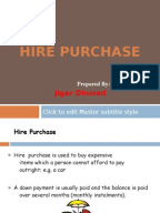 Literature review on hire purchase