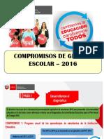 6 Compromisos de Gestion Educativa Para El 2016