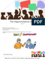 Argumentative Essay Basics