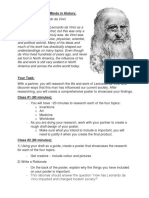 da vinci assignment handout