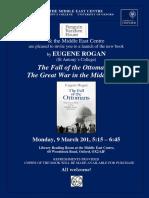 Eugene Rogan Book Launch Poster