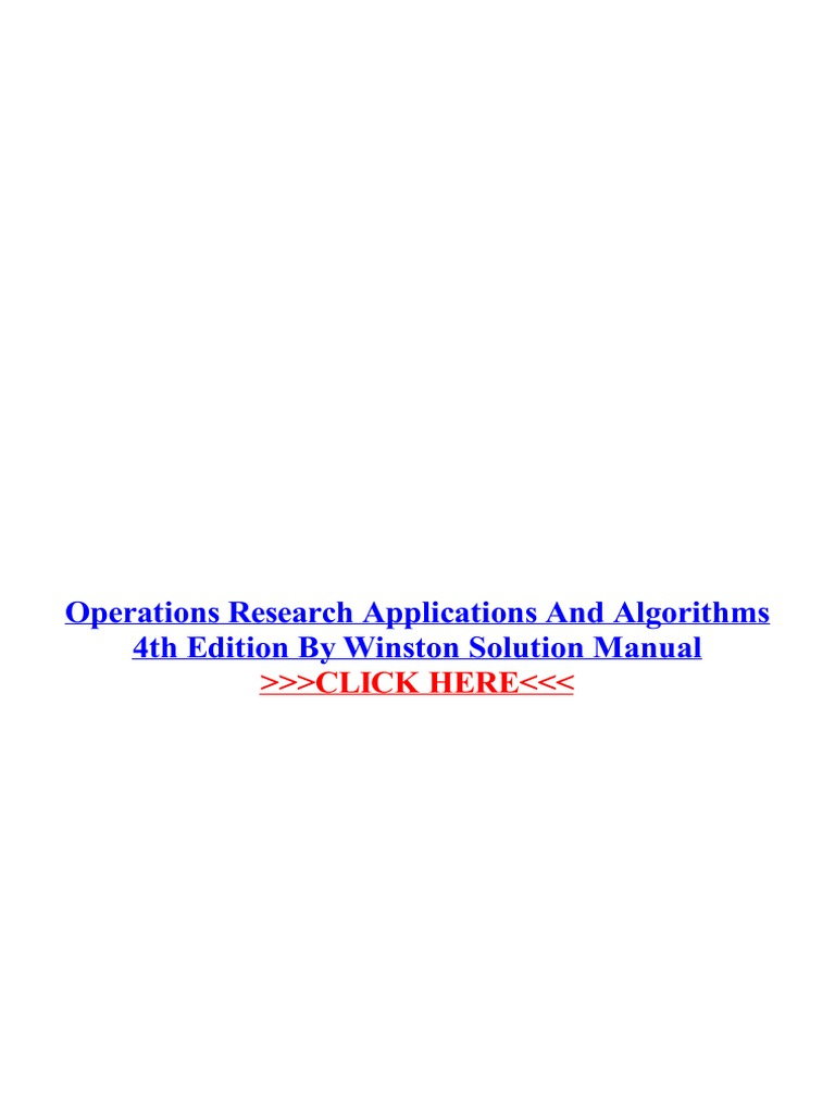 1pdf pdf operations research applications and algorithms 4th 1pdf pdf operations research applications and algorithms 4th edition mathematical optimization operations research fandeluxe Choice Image