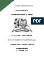 Titulos de Crédito - Derecho Mercantil