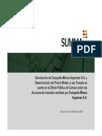 Informe Argentum 5 Nov 2008